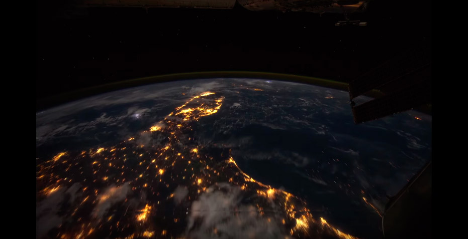 Timpe lapse from the ISS