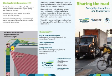Port of Seattle Bike & Truck Safety Brochure