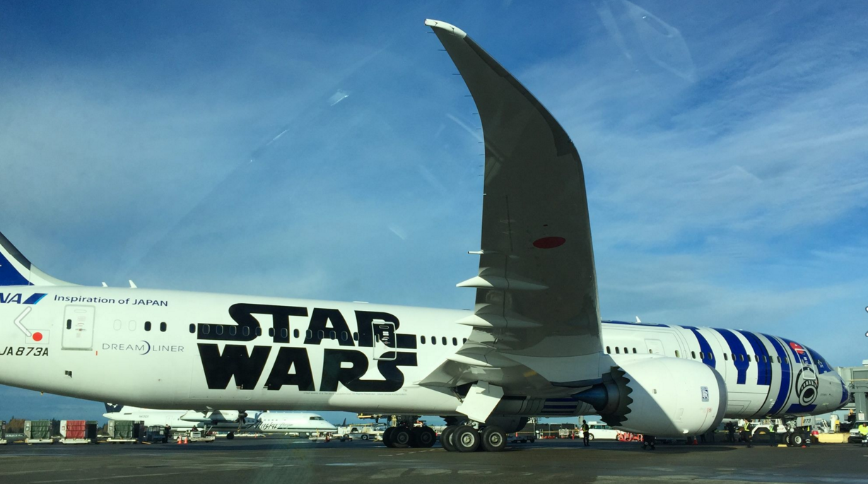 The force is strong with airline graphics